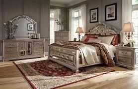 Ebay Furniture Bedroom Sets Birlanny Silver 4 Pcs California King Upholstered Bedroom Set Ebay