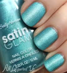 teal tulle new sally hansen satin glam nail swatches review all