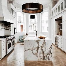 marble island kitchen best 25 waterfall countertop ideas on marble kitchen