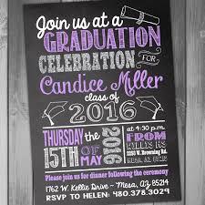 create your own graduation announcements chalkboard graduation invitations vertabox