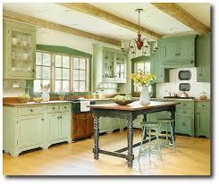 Cottage Kitchen Furniture Cottage Kitchen Painted In Green