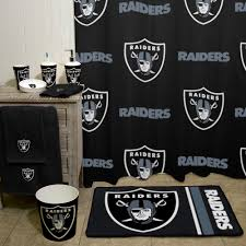Cheap Bathroom Decor by Nfl Oakland Raiders Decorative Bath Collection Shower Curtain