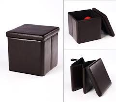 popular brown leather storage ottoman u2013 home improvement 2017