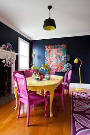blue painted dining table colorful painted dining table inspiration