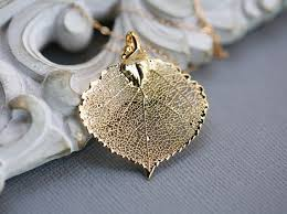 baby silver gifts baby aspen leaf gold or silver leaf necklace bridesmaid gifts