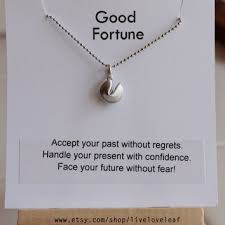silver fortune cookie gift happy birthday to my partner in crime from liveloveleaf on etsy