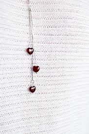 heart necklace romantic gift for her necklace dark red jewelry