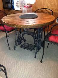 small lazy susan for kitchen table table made from sewing machine base spool end and a lazy susan