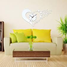 Decorative Wall Clocks For Living Room Online Get Cheap Heart Wall Clock Aliexpress Com Alibaba Group
