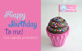 free happy birthday cupcake topper printable club chica circle