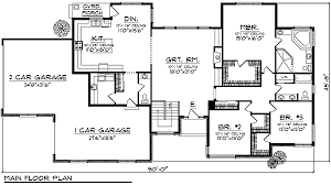 great house plans ranch with large great room windows 89235ah architectural