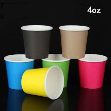party cups colorful 4 oz paper cups disposable cup for coffee tea party cup