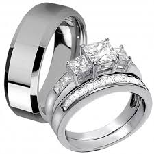 ring for him and matching ring stainless steel ring for men three