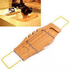 Bathtub Wine And Book Holder Bamboo Bath Caddy Bathtub Reading Stand Rack Adjustable Wine Book
