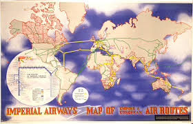 Spirit Airlines Route Map by Imperial Airways Map Of Empire And European Air Routes National