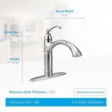 moen brantford kitchen faucet moen 7295srs brantford 1h high arc pullout kitchen faucet spot