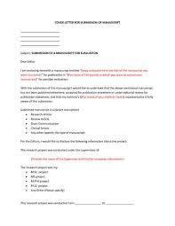 cover letter example for manuscript submission resume example