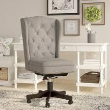 linen desk chair linen office chairs you ll wayfair