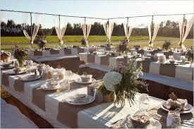 Cheap Backyard Reception Ideas Burlap And Lace Wedding Decor Ideas Burlap Burlap Table Runners