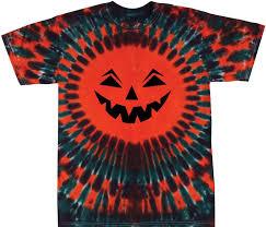 amazon com tie dyed shop halloween jack o lantern t shirt small