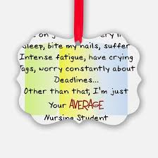 student nurse christmas ornament cafepress