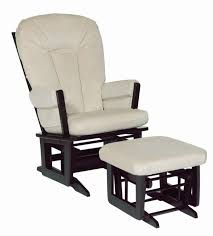 Glider Recliner With Ottoman Dutailier Reclining Glider And Ottoman Espresso With Beige Pad