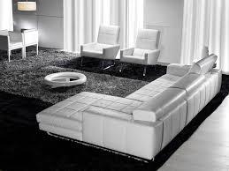 Leather Sectional Sofa With Chaise by Elegant White Leather Sectional Sofa With Chaise Contemporary