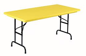 24 x 60 folding table amazon com correll ra2448 28 r series adjustable height blow
