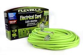 100 ft flexzilla pro electric extension power cord cable indoor