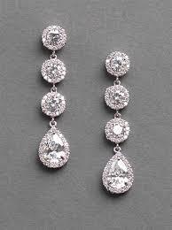 drop earrings wedding cz rhinestone earrings drop earrings wedding earrings bridal