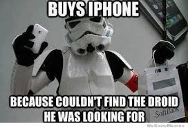 Star Wars Stormtrooper Meme - why did the stormtrooper buy an iphone weknowmemes