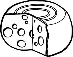 coloriage fromage à imprimer
