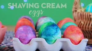 Decorating Easter Eggs With Shaving Cream by How To Dye Easter Eggs With Shaving Cream Youtube
