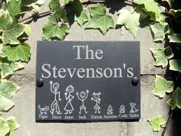 Family Wood Sign Home Decor Details About Personalised Slate Stick Family House Name Or Number