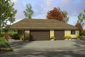 House Plans With Three Car Garage Traditional House Plans Garage W Shop 20 149 Associated Designs