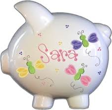 monogrammed piggy banks personalized piggy banks baby furniture and children s gifts