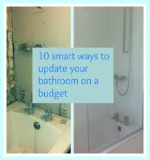Smart Ways To Update Your Bathroom On A Budget Thrifty Home - Bathroom updates
