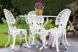 Metal Garden Chairs And Table Cast Iron Garden Furniture History And Overview