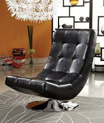 Large Swivel Chairs Living Room Amazon Com Furniture Of America Graham Leatherette Armless Swivel