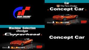 dodge supercar concept dodge concept car tribute gran turismo 1 u0026 2 mattj155 youtube
