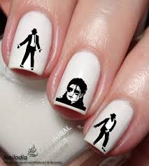 michael jackson nail art sticker water transfer decal wrap 138