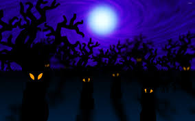 gothic halloween background spooky forest dead trees mystic halloween stock photo 566088586
