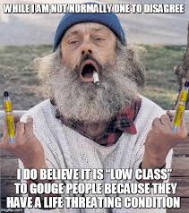 Hobo Memes - local hobo expresses his opinion on the rapid and steep increase in
