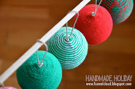 funnelcloud handmade yarn ornaments