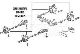 rear differential honda crv mugen rear end bushings rear differential mount set 4