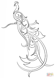 abstract peacock coloring page free printable coloring pages