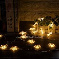 warm lighting snow shaped decorative lights
