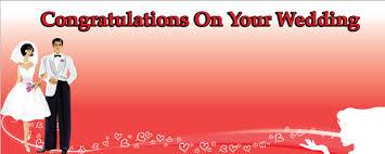Wedding Congratulations Banner On Your Wedding Bride U0026 Groom Personalised Banner Partyrama Co Uk