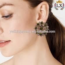 big stud earrings elx 00296factory price wholesale stud earring artificial
