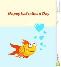 fish valentines fish happy s day stock vector illustration of